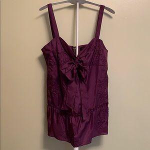 Tara Jarmon for Target purple floral top